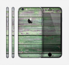 The Wooden Planks with Chipped Green Paint Skin for the Apple iPhone 6