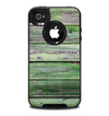 The Wooden Planks with Chipped Green Paint Skin for the iPhone 4-4s OtterBox Commuter Case