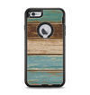 The Wooden Planks with Chipped Green and Brown Paint Apple iPhone 6 Plus Otterbox Defender Case Skin Set