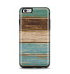 The Wooden Planks with Chipped Green and Brown Paint Apple iPhone 6 Plus Otterbox Symmetry Case Skin Set