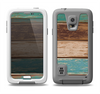 The Wooden Planks with Chipped Green and Brown Paint Samsung Galaxy S5 LifeProof Fre Case Skin Set