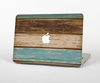 "The Wooden Planks with Chipped Green and Brown Paint Skin Set for the Apple MacBook Pro 15"" with Retina Display"