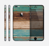 The Wooden Planks with Chipped Green and Brown Paint Skin for the Apple iPhone 6