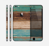 The Wooden Planks with Chipped Green and Brown Paint Skin for the Apple iPhone 6 Plus