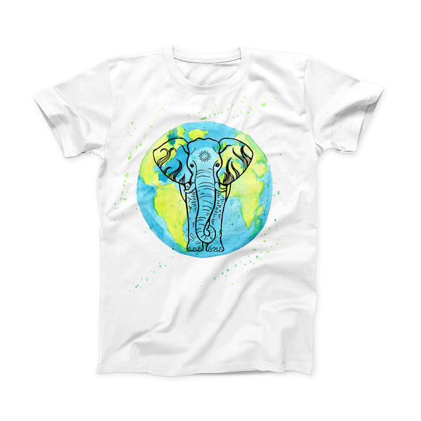 The Worldwide Sacred Elephant ink-Fuzed Front Spot Graphic Unisex Soft-Fitted Tee Shirt