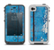 The Worn Blue Paint on Wooden Planks Apple iPhone 4-4s LifeProof Fre Case Skin Set