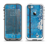 The Worn Blue Paint on Wooden Planks Apple iPhone 5-5s LifeProof Fre Case Skin Set