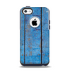 The Worn Blue Paint on Wooden Planks Apple iPhone 5c Otterbox Commuter Case Skin Set