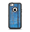 The Worn Blue Paint on Wooden Planks Apple iPhone 5c Otterbox Defender Case Skin Set