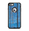The Worn Blue Paint on Wooden Planks Apple iPhone 6 Plus Otterbox Defender Case Skin Set