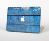 "The Worn Blue Paint on Wooden Planks Skin Set for the Apple MacBook Pro 15"" with Retina Display"