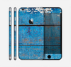 The Worn Blue Paint on Wooden Planks Skin for the Apple iPhone 6 Plus