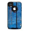 The Worn Blue Paint on Wooden Planks Skin for the iPhone 4-4s OtterBox Commuter Case