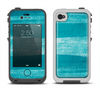 The Worn Blue Texture Apple iPhone 4-4s LifeProof Fre Case Skin Set