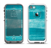 The Worn Blue Texture Apple iPhone 5-5s LifeProof Fre Case Skin Set