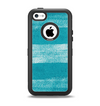 The Worn Blue Texture Apple iPhone 5c Otterbox Defender Case Skin Set