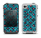 The Worn Dark Blue Checkered Starry Pattern Apple iPhone 4-4s LifeProof Fre Case Skin Set
