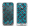 The Worn Dark Blue Checkered Starry Pattern Apple iPhone 5-5s LifeProof Fre Case Skin Set