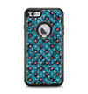 The Worn Dark Blue Checkered Starry Pattern Apple iPhone 6 Plus Otterbox Defender Case Skin Set