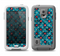 The Worn Dark Blue Checkered Starry Pattern Samsung Galaxy S5 LifeProof Fre Case Skin Set