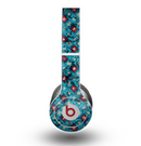 The Worn Dark Blue Checkered Starry Pattern Skin for the Beats by Dre Original Solo-Solo HD Headphones