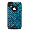 The Worn Dark Blue Checkered Starry Pattern Skin for the iPhone 4-4s OtterBox Commuter Case