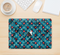 "The Worn Dark Blue Checkered Starry Pattern Skin Kit for the 12"" Apple MacBook"