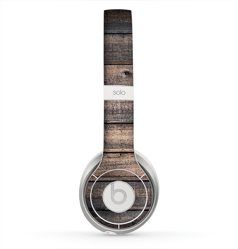 The Worn Planks of Wood Skin for the Beats by Dre Solo 2 Headphones