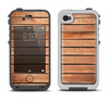 The Worn Wooden Panks Apple iPhone 4-4s LifeProof Fre Case Skin Set