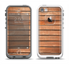 The Worn Wooden Panks Apple iPhone 5-5s LifeProof Fre Case Skin Set