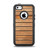 The Worn Wooden Panks Apple iPhone 5c Otterbox Defender Case Skin Set