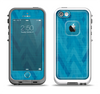 The Woven Blue Sharp Chevron Pattern V3 Apple iPhone 5-5s LifeProof Fre Case Skin Set