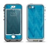 The Woven Blue Sharp Chevron Pattern V3 Apple iPhone 5-5s LifeProof Nuud Case Skin Set
