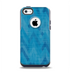 The Woven Blue Sharp Chevron Pattern V3 Apple iPhone 5c Otterbox Commuter Case Skin Set