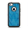 The Woven Blue Sharp Chevron Pattern V3 Apple iPhone 5c Otterbox Defender Case Skin Set