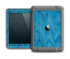 The Woven Blue Sharp Chevron Pattern V3 Apple iPad Air LifeProof Fre Case Skin Set