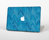 The Woven Blue Sharp Chevron Pattern V3 Skin Set for the Apple MacBook Pro 15""
