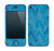 The Woven Blue Sharp Chevron Pattern V3 Skin for the Apple iPhone 4-4s