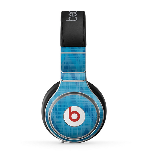 The Woven Blue Sharp Chevron Pattern V3 Skin for the Beats by Dre Pro Headphones