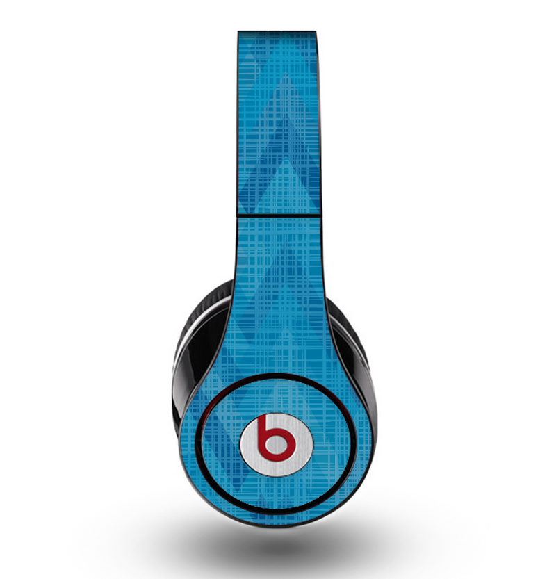 The Woven Blue Sharp Chevron Pattern V3 Skin for the Original Beats by Dre Studio Headphones