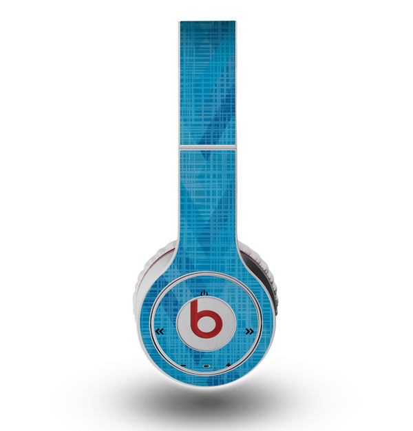 The Woven Blue Sharp Chevron Pattern V3 Skin for the Original Beats by Dre Wireless Headphones
