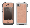 The Woven Burlap Apple iPhone 4-4s LifeProof Fre Case Skin Set