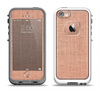 The Woven Burlap Apple iPhone 5-5s LifeProof Fre Case Skin Set