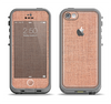 The Woven Burlap Apple iPhone 5c LifeProof Fre Case Skin Set