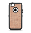 The Woven Burlap Apple iPhone 5c Otterbox Defender Case Skin Set