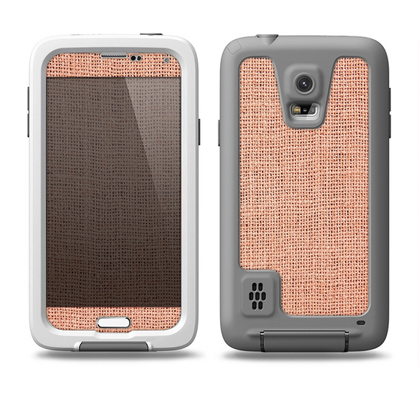 The Woven Burlap Samsung Galaxy S5 LifeProof Fre Case Skin Set