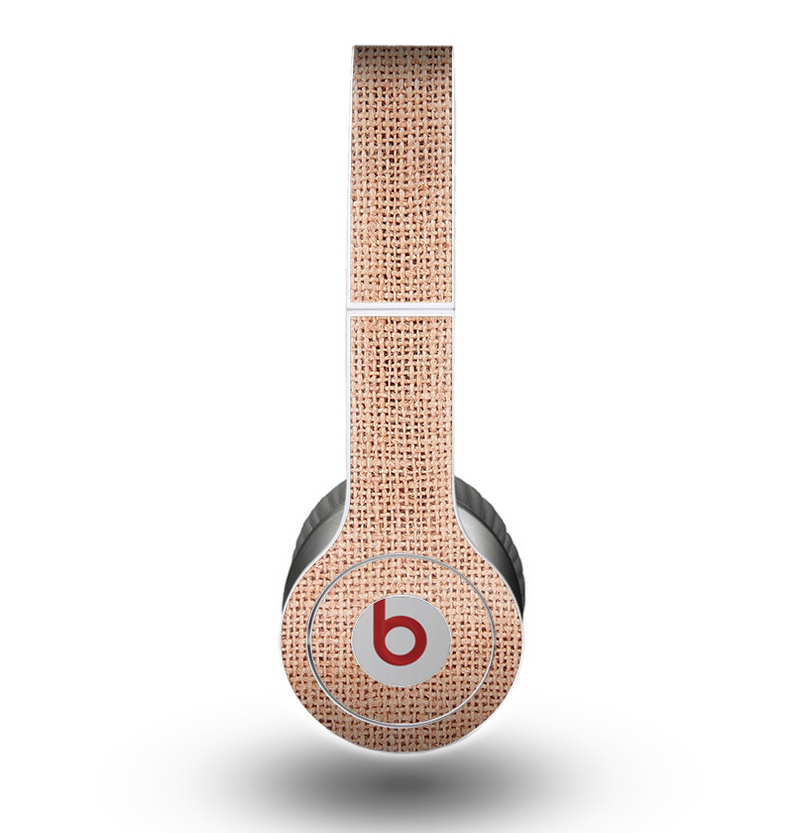 The Woven Burlap Skin for the Beats by Dre Original Solo-Solo HD Headphones