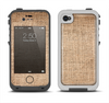 The Woven Fabric Over Aged Wood Apple iPhone 4-4s LifeProof Fre Case Skin Set