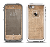 The Woven Fabric Over Aged Wood Apple iPhone 5-5s LifeProof Fre Case Skin Set
