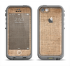 The Woven Fabric Over Aged Wood Apple iPhone 5c LifeProof Fre Case Skin Set